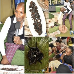 Pastor Asks Church Members To Eat Live Millipede And Beer